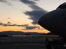 Alta Norway 737 Sun de minuit photo stock