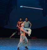 Alta notte lancia-acrobatica di lancio di sogno di showBaixi Fotografia Stock Libera da Diritti
