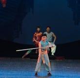Alta notte lancia-acrobatica di lancio di sogno di showBaixi Fotografia Stock