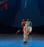 Alta notte lancia-acrobatica di lancio di sogno di showBaixi Fotografie Stock Libere da Diritti