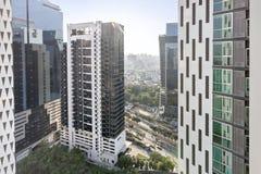 Alta opinión de Bangkok en el condominuim Foto de archivo
