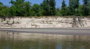 Alta orilla del río Imágenes de archivo libres de regalías