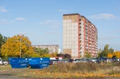 Alta palazzina di appartamenti Fotografie Stock