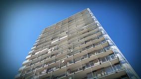 Alta palazzina di appartamenti di aumento Immagine Stock
