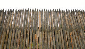 Alta palizzata di legno Fotografie Stock