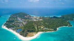 Alta panoramica aerea Tailandia dell'isola di Ko Lipe Immagine Stock Libera da Diritti