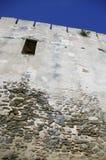 Alta parete del castello Fotografie Stock
