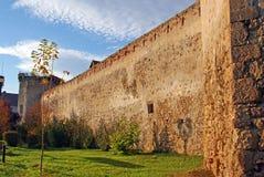 Alta parete della fortezza antica Fotografia Stock Libera da Diritti