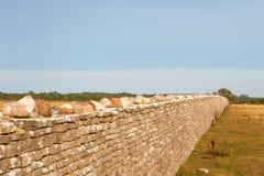 Alta parete di pietra Fotografia Stock
