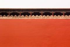 Alta parete intorno alla città severa, Pechino, Cina Fotografie Stock Libere da Diritti