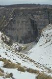 Alta parte del salto uno del fiume di Nervion di più alte cascate in Europa Neve dei fiumi della natura dei paesaggi Fotografia Stock