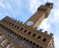 Alta parte di Palazzo Vecchio, Firenze, Italia Fotografia Stock Libera da Diritti