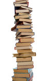 Alta pila de libros Imagen de archivo