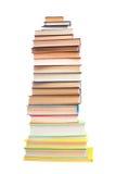 Alta pila di libri Fotografie Stock