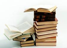 Alta pila di libri Fotografia Stock