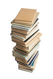 Alta pila di libri differenti Fotografia Stock Libera da Diritti