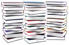 Alta pila di libri isolata Fotografia Stock Libera da Diritti