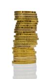 Alta pila di monete Immagini Stock