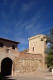 Alta porta di Puerta Alta in città medievale di Daroca, Immagine Stock Libera da Diritti