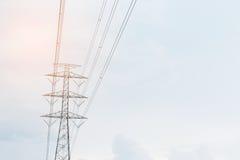 Alta posta elettrica immagine stock