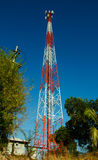 Alta posta mobile di telecomunicazione Fotografia Stock Libera da Diritti