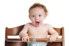 Alta presidenza del bambino affamato Fotografie Stock