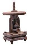 Alta pressione arrugginita della valvola a gas Fotografie Stock