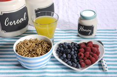 Alta prima colazione dietetica della fibra di dieta sana Fotografia Stock