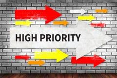 Alta prioridade imagem de stock