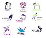 Alta qualidade dos logotipos do vetor Foto de Stock