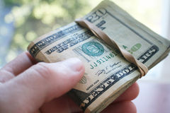 Alta qualità alta vicina dei soldi Immagini Stock