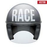 Alta qualità che corre il casco del motociclo Fotografie Stock