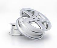 Alta qualità di alluminio di immagine della ruota - rappresentazione 3D Immagini Stock Libere da Diritti