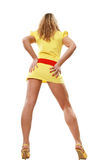 Alta ragazza con le gambe lunghe Fotografia Stock Libera da Diritti