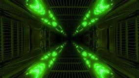 Alta rappresentazione riflettente d'ardore del fondo 3d del vjloop del tunnel dello spazio della galassia del abstact illustrazione vettoriale