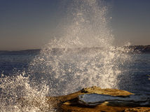 Alta resaca, costa de La Jolla, California Fotografía de archivo