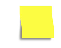 Alta resolução de Digitas da nota de post-it fotos de stock royalty free