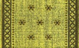 Textura dos tecidos de algodão - amarelo com testes padrões Khaki Imagem de Stock