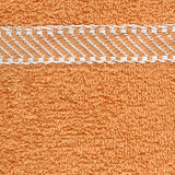 Textura de pano de toalha - bege & listras Fotografia de Stock