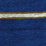 Textura del paño de la toalla - azul con las rayas Fotos de archivo libres de regalías