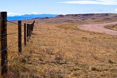 Alta rete fissa delle pianure Fotografie Stock