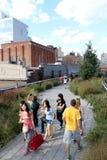 Alta riga New York City Parco pedonale elevato Fotografia Stock Libera da Diritti