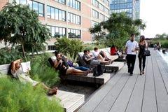 Alta riga New York City Parco pedonale elevato Fotografie Stock Libere da Diritti