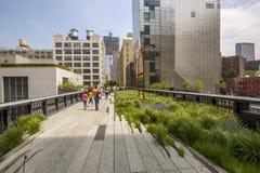 Alta riga Parco pubblico urbano, New York, U.S.A. Fotografie Stock Libere da Diritti