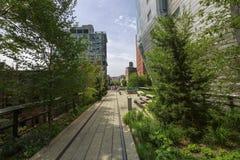 Alta riga Parco pubblico urbano, New York, U.S.A. Fotografia Stock