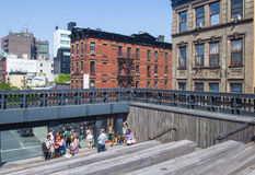 Alta riga sosta a New York Fotografie Stock