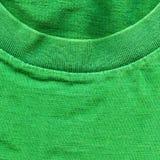 Struttura del tessuto di cotone - verde intenso con il collare Immagini Stock Libere da Diritti