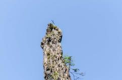 alta roccia con l'incrocio Fotografie Stock Libere da Diritti