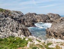 Alta roccia di Santa Justa Fotografie Stock Libere da Diritti
