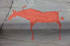 Alta rock art Royalty Free Stock Photos